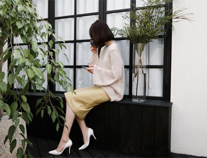 Editor leather skirt (50% sale)