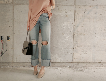 Tong roll-up denim (50% sale)