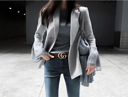 Cuffs shirring jacket (50% sale)