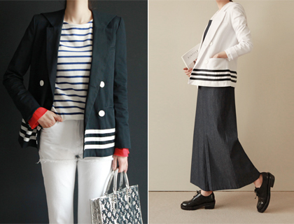 Sailor-collar jacket (50% sale)