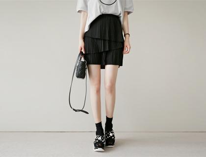Accordion mini skirt (50% sale)