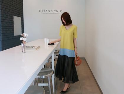 Shimmer pleats dress