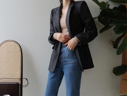 Tailored herringbone jacket