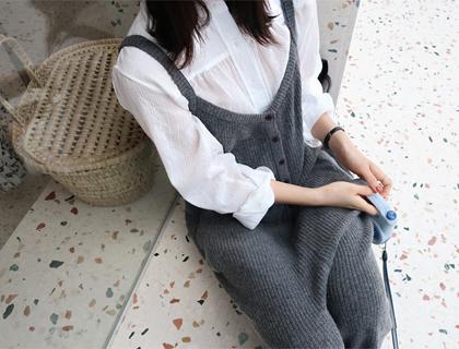 Chino collar blouse