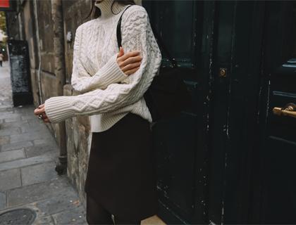 Eden turtle knit