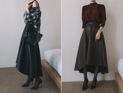 Leather hul skirt