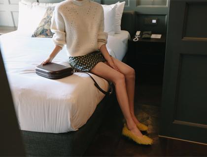 Boucle short knit
