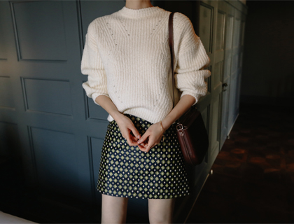 Miyu jacquard skirt