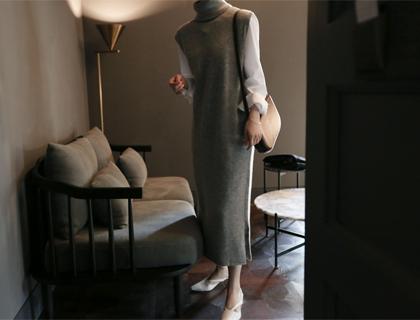 Drop pola long knit