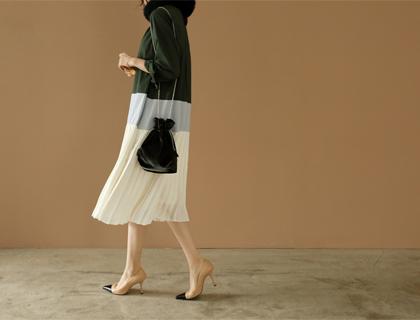 Trio pleats dress
