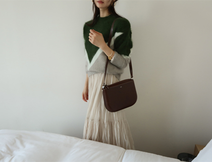 Tricolor angora knit
