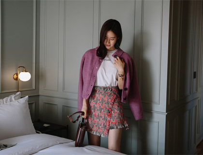 Sweet tweed skirt