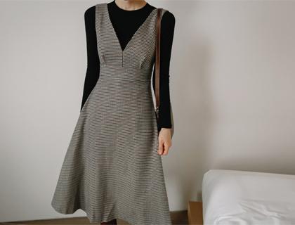Herb check dress