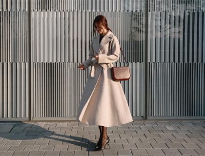 Cash flare coat