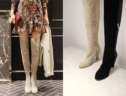 V-thigh high boots ♩