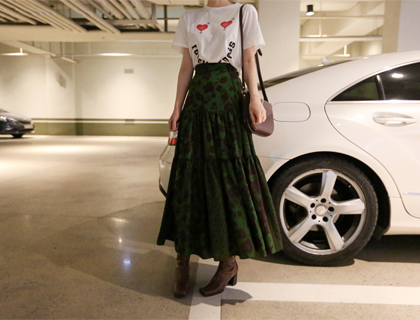Cancan flower skirt