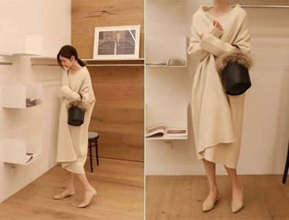 Shawl knit coat
