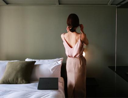 Shimmering sleeveless