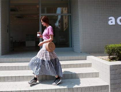 Stripe cancan skirt