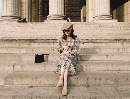 British check dress