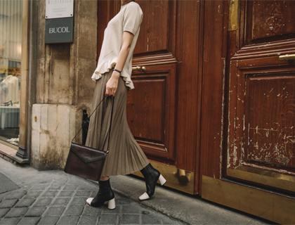 Sanderson pleats skirt