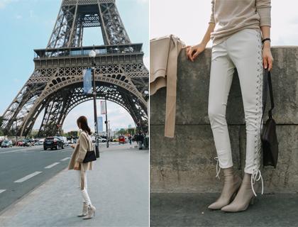 Corset leather pants