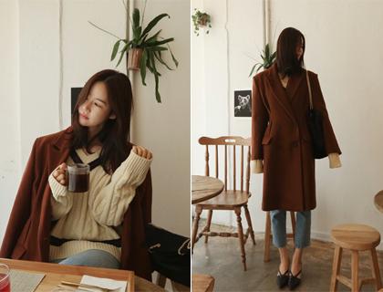 Aris double coat (bric red)