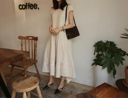 Natural cotton dress