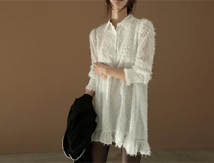 Angelina fringe dress