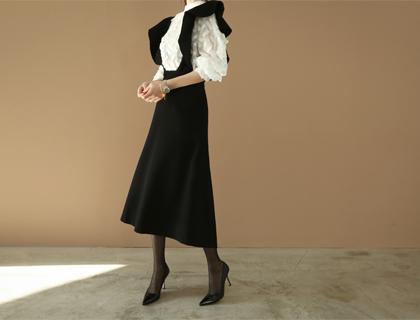 Wave strap dress