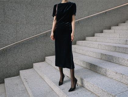 Lucia velvet dress