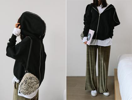 Back-zipper hood