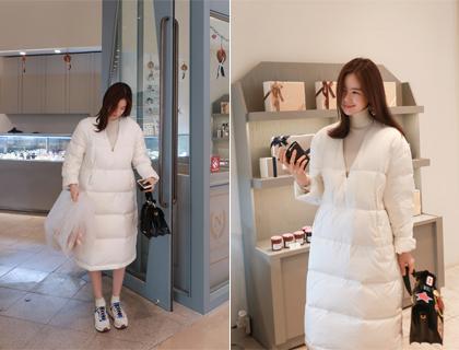 Down padding dress