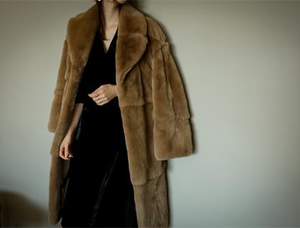 Rex fur coat