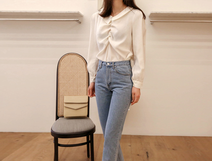 Miyu shirring blouse
