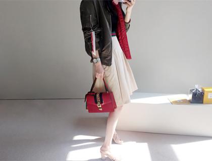 Collabo banding skirt
