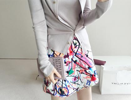 Graffiti beeds skirt