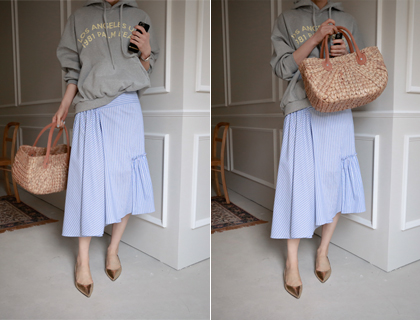Picnic shirring skirt