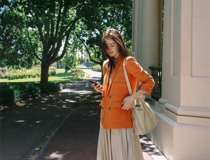 Linen pocket jacket
