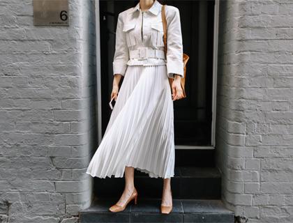 Troky pleats skirt