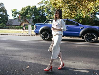 Cotton-high skirt