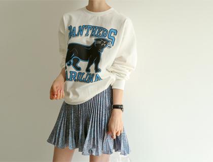 Sparkling pleats skirt