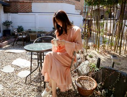 Salrang frill dress