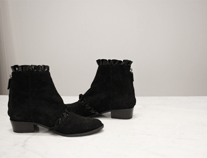 Shrring ankle boots ♩