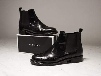 Wing tip boots ♩