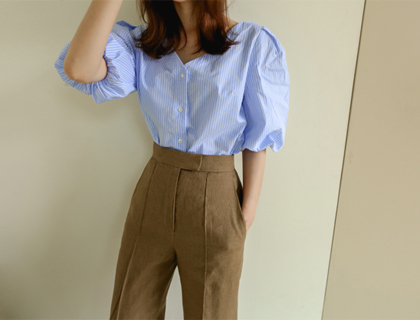 Toga stripe blouse