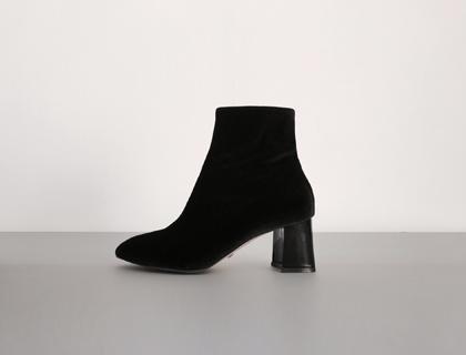 16773 velvet ankle boots ♩