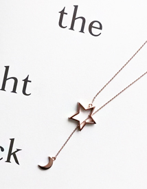 Moon-star necklace