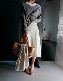 Glossy-A skirt