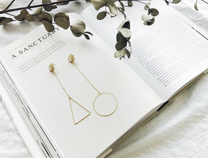 Triangle Circle earring